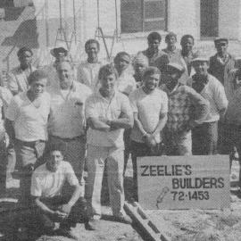 The Zeelie Builder's team at the Habitat site in the early 1980s.